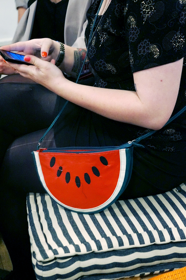 watermelon bag, vandmelon clutch