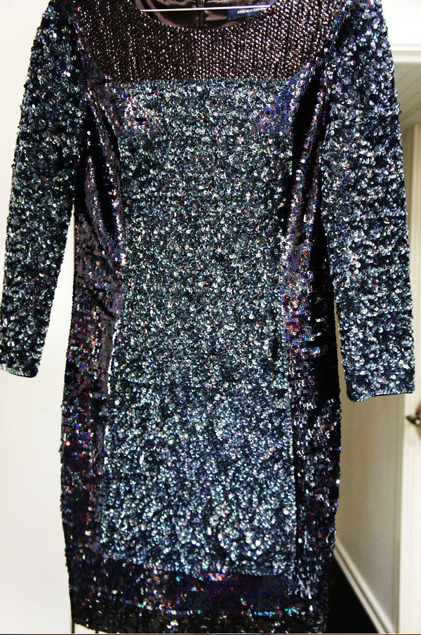 french connection, french connection sequin dress, french connection pallietkjole, french connection 2013