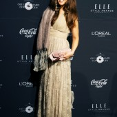 elle style awards 2013, red carpet, pressevæg, zara blondekjole, lace dress zara, nude lace dress