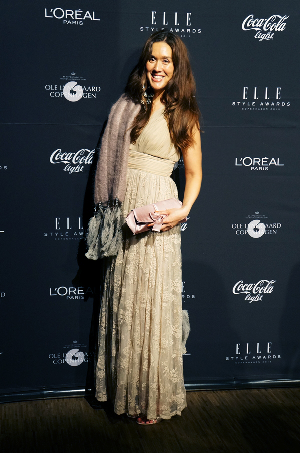 elle style awards 2013, red carpet, pressevæg, zara blondekjole, lace dress zara, nude lace dress