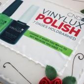 CND vinylux kage, event kage, logo kage, logo cake