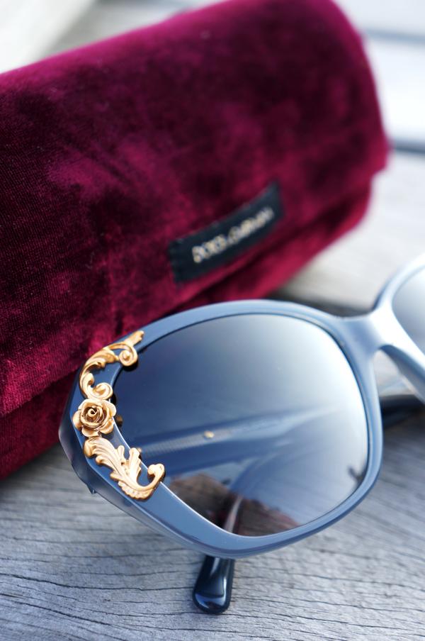 Dolce & Gabbana sunglasses luxoticca, Dolce & Gabbana velevt box sunglasses, Dolce & Gabbana solbriller overdådige