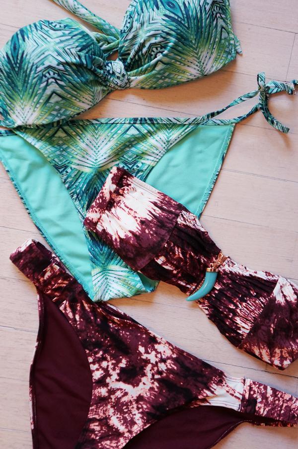 hm beyonce for H&M, swimwear 2013 summer hm, sommer hm badetøj, palme bikini, palm print bikini