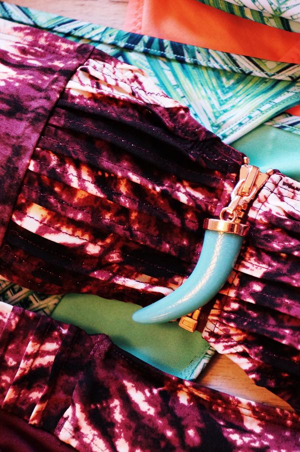 hm bikini, beyonce hm bikini, H&M for Water, tie dye bikini, turkis tand bikini