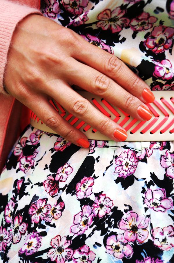 neon belt H&M, neon pink bælte hm