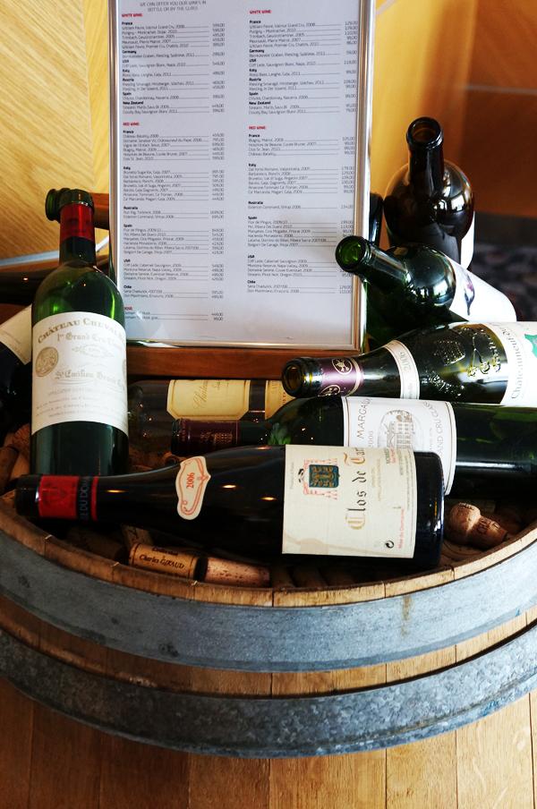 vinbar olsobåden, vin udvalg olsobåden
