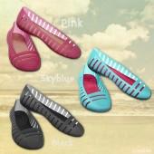 Crocs™ Adrina Flat II, Croslite, flade gummiballerinaer