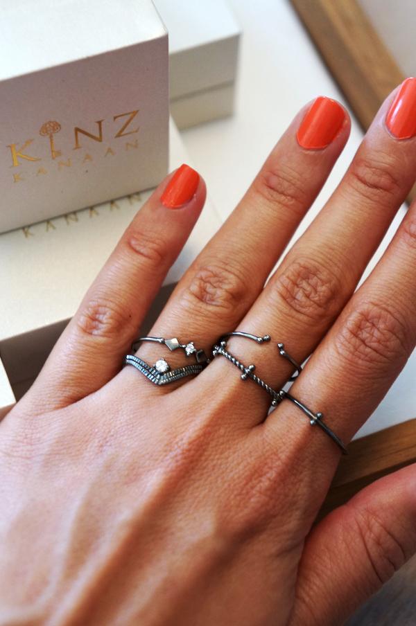 kinz kanaan smykker, kinz kanaan jewllery, sterling sølv belagt med sort rutanium, sølv smykker blogger ringe sølv