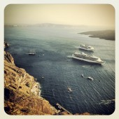 santorini, cruise, yatch