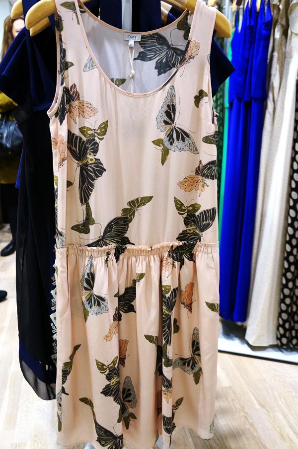 hoss intropia sommerkjole, hoss intropia kjole, hoss intropia somerfulge print kjole, butterfly print dress