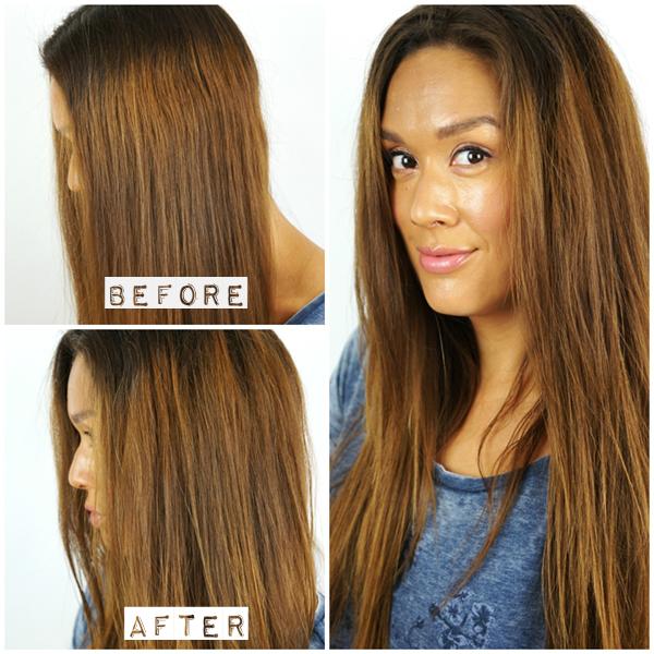 touperingsbørste før og efter, touperingsbørste ghd stort hår, toupering af hår