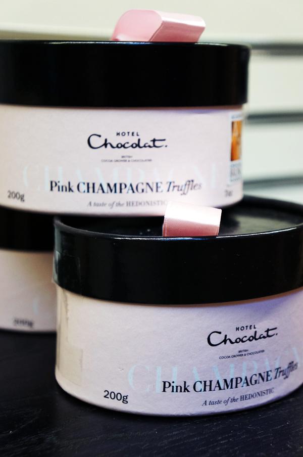 pink champange chokolade, pink champange chocolate