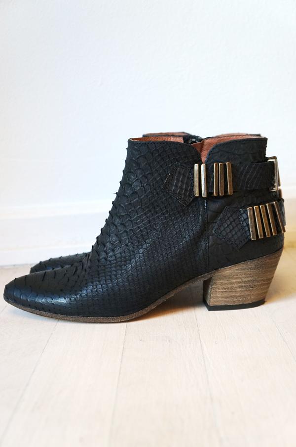 snake ankel boots, ankelstøvler læder, cowboy støvler, fashion ankel boots, slange print støvler, snake print boots