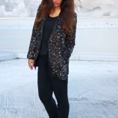 vila leopard jakke, vila jakke, leopard frakke