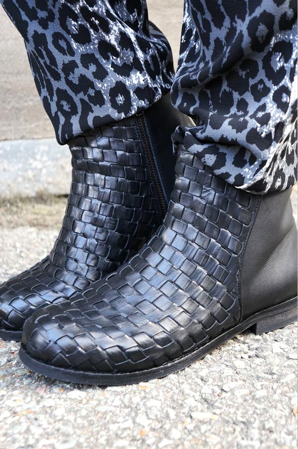 B&co srøvler, B&co boots, sorte vinter støvler, boots b&co, skoringen B&co, flettede støvler, braided boots