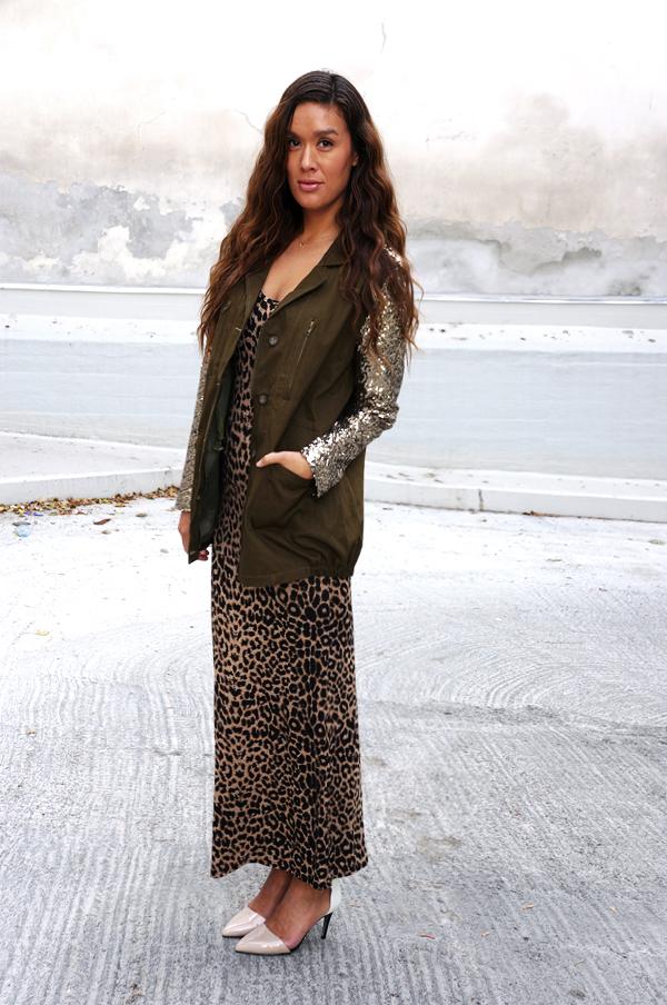 Landra Leopard Belted Racerback Maxi Dress, leopard dress