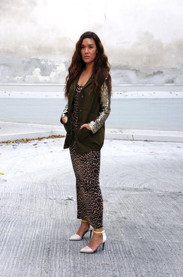 Leopard Belted Racerback Maxi Dress, leopard kjole, maxikjole leopard