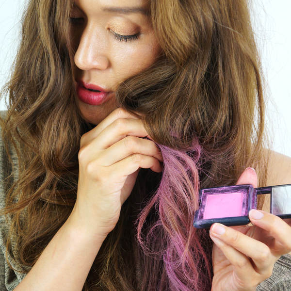 elf studio blush pink passion, how to do dip dye, dip dye tutorial