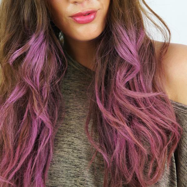 pink dip dye, pink hair