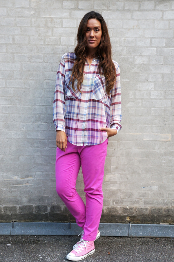 blog outfit, pink trousers, monki pants, bukser fra monki