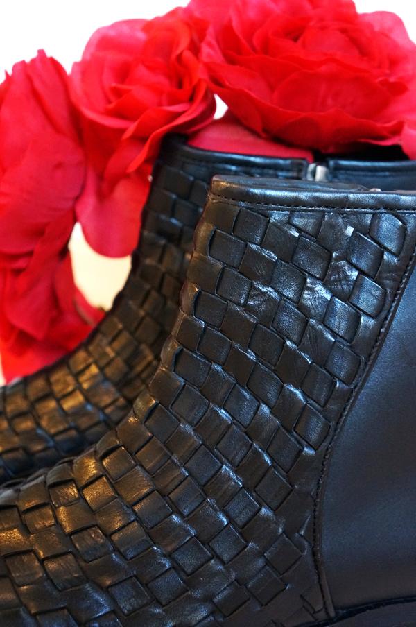 sorte ankelstøvler, b&co støvler, B&Co støvler sorte, braided boots, vinterstøvler, flade støvler