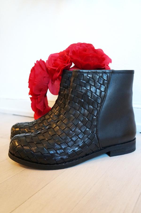 B&CO Classic, braided leather boots, B&co støvler, flettede støvler
