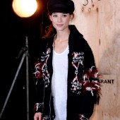 Astrid Berges Frisbey is wearing Isabel Marant pour H&M