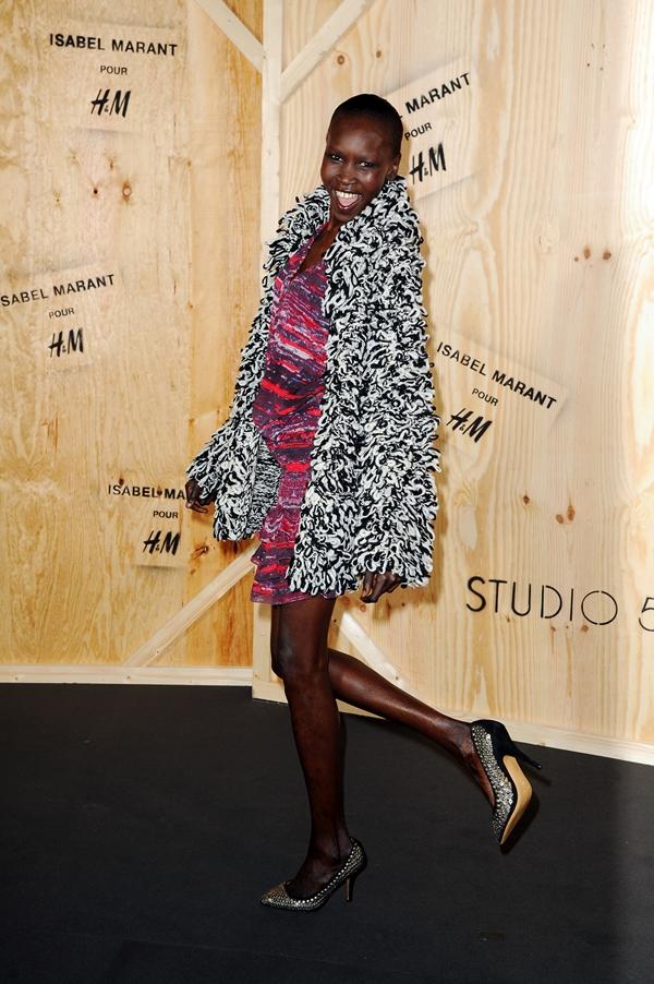 Alek Wek wearing Isabel Marant pour H&M