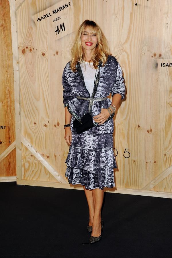 Alexandra Golovanoff wearing Isabel Marant pour H&M