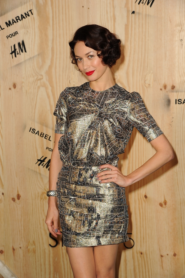 Olga Kurylenko is wearing Isabel Marant pour H&M