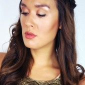 golden makeup makeup guide, get the look, elf cosmetics makeup, makeup guide