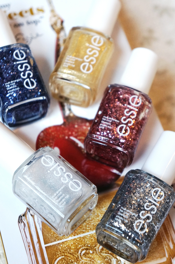 essie Luxeffects Collection 2013, essie 2013 glimmer neglelak, nail polish essie, essie As Gold As It Gets, essie A Cut Above, essie Pure Pearlfection, essie Set In Stones, essie Stroke of Brilliance, essie Jazzy Jubilant, essie Sparkle On Top