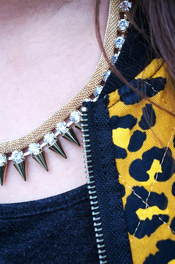 glitter halskæde, gold necklace, glitter smykker