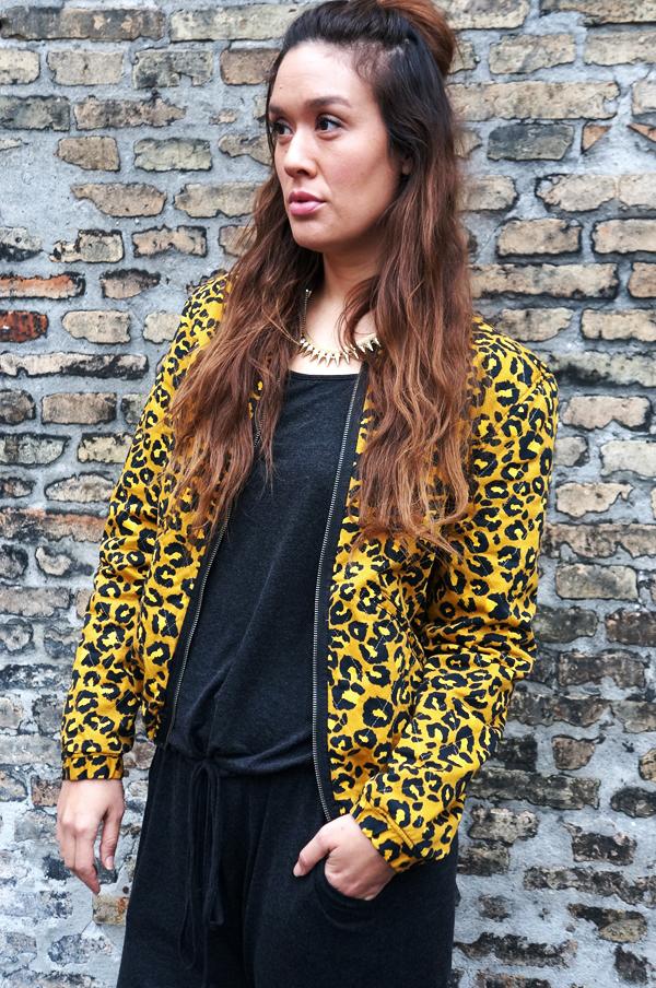 hipster blog, leopard jakke H&M