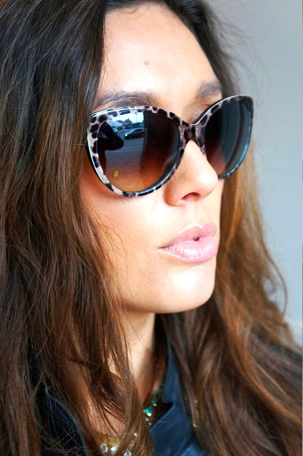 dolce & gabbana sunglasses blogger, leopard, animal print sunglasses