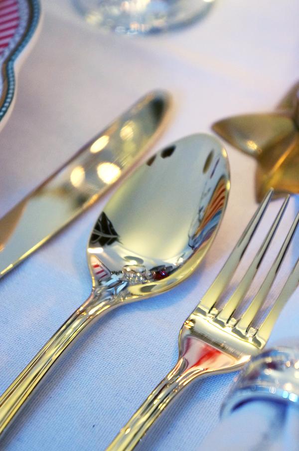 guldbestik, guld gaffel, guld ske, guld kniv, lisbeth dahl bestik