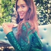 asos pallietkjole, green sequin dress cowl back asos, nytårsaften, godt nytår