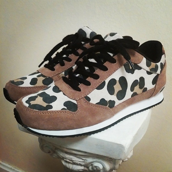 leopard sneakers hm, leopard sko H&M, Hm animal print sneakers, leopard suede sneakers