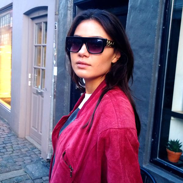 smuk hipster pige, blogger hipster