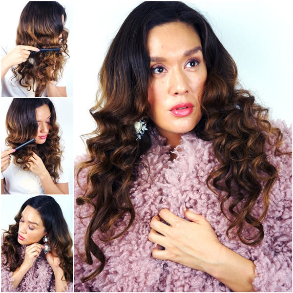 glam curls, krølle guide, hollywood curls, red carpet ready