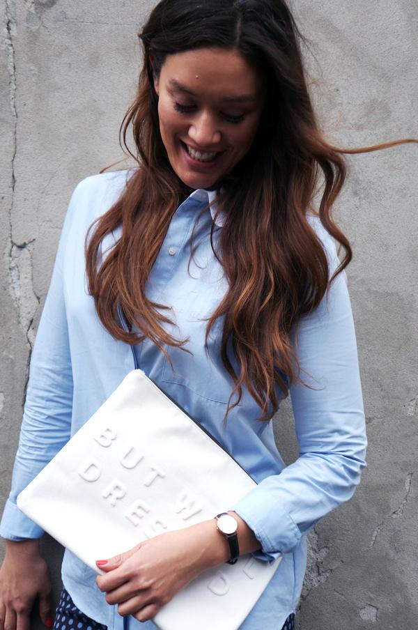 zara blue shirt, blå skjorte, Classy York daniel wellington, daniel wellington watch, work wear, blogger outfit buisness, Swarovski stones watch Swarovski sten ur