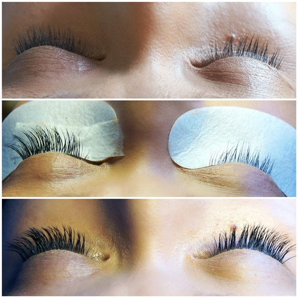 before and after eyelash extension, før og efter eyelash extension, falske vipper, single eyelash extension, nui cph, eyelash extension behandling, eyelash extension københavn