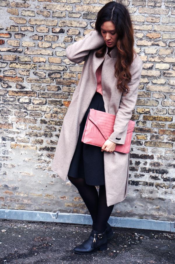 zara beige camel coat, zara frakke, cammel coat zara, lang frakke zara, trench coat, camel coat, over size clutch