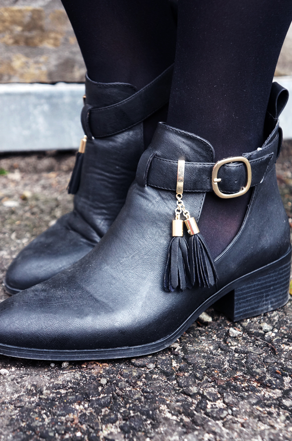 river island, river island boots, river island danmark, river island støvler, river island tassel ankel boots, ankelstøvler river island, strøvler med frynser, cut out boots river island