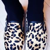 dune sko, dune shoes, leopard slip ons, leopard loafers, leopard sneakers