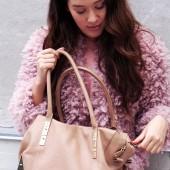 adax bag, beige bag, adax stine goya taske, pink jacket