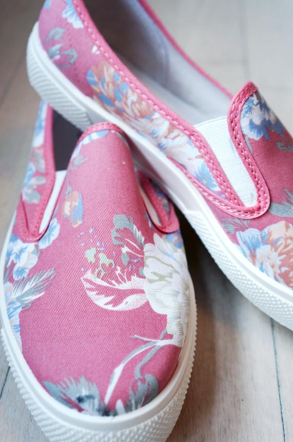 asos sommer sko, asos flowers slip ons,  ASOS DOCKLAND Plimsolls