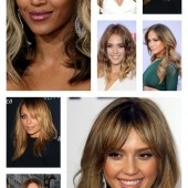 hair inspo, side swept bangs, jennifer lopez hair, jessica alba hair, ombre hair, golden hari, jlo hair, kim kardashian hair, Nicole Richie hair,