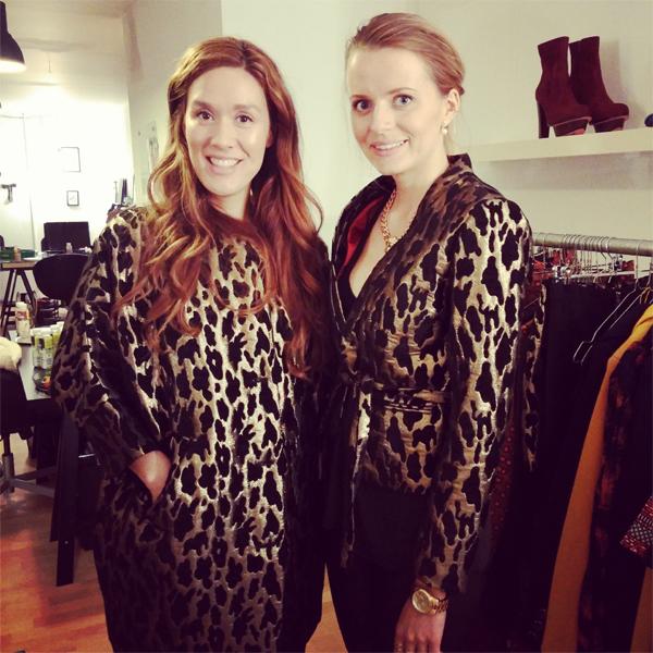 edith og ella, edith ella jacket, guld og sort leopard frakke, oversize coat edithn ella
