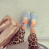 nike sneakers, leopard bukser, zara leopard pants, adax bag